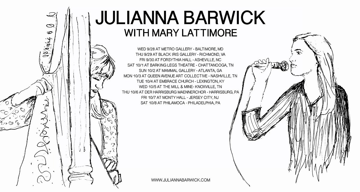 Juliana Barwick and Mary Lattimore Moviate